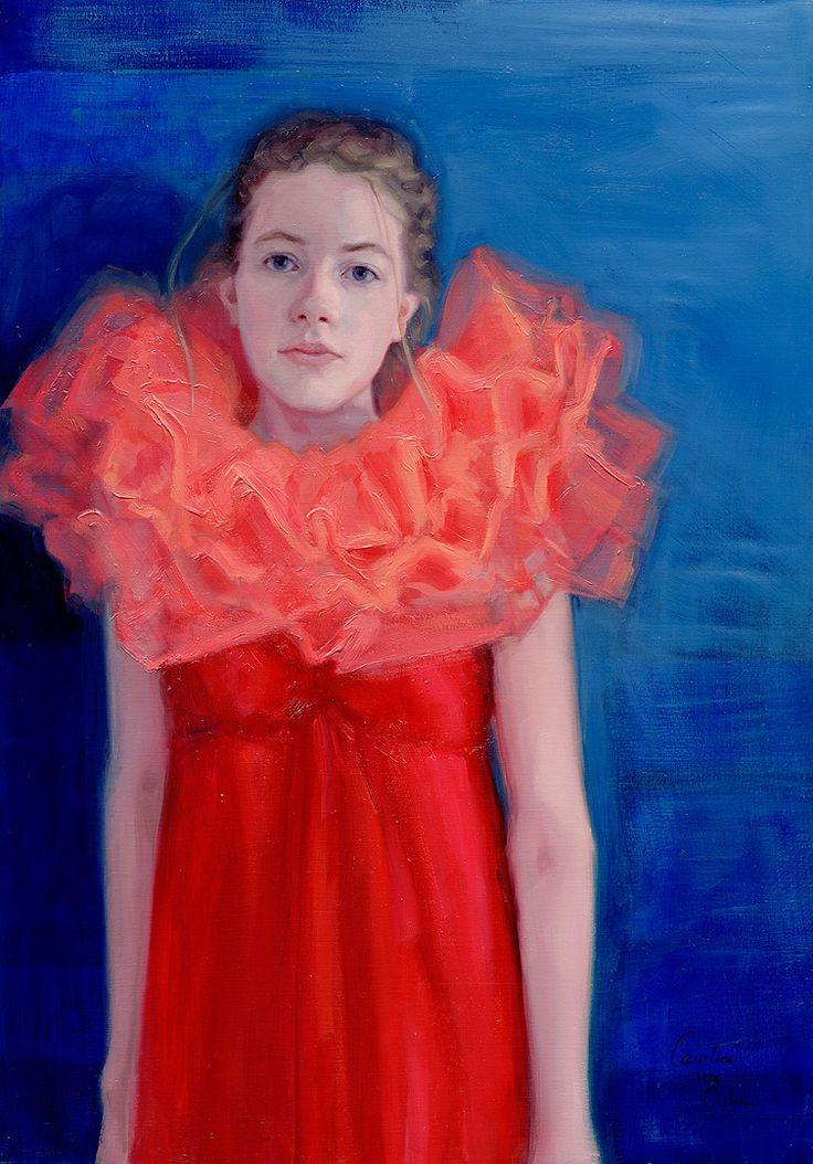 Song Sung Blue Oil on Linen, 70x100 cm by Carolien van Olphen