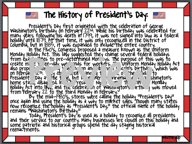 The History of President's Day!