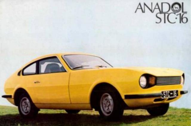 anadol stc 16 - yellow car