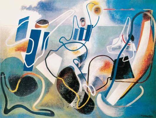 Angeli della Terra - Enrico Prampolini (1936)