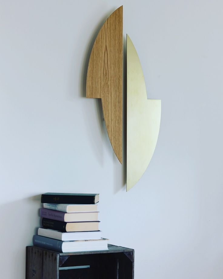 Gemini sculptures in oak and brushed brass. The beauty of simplicity...
