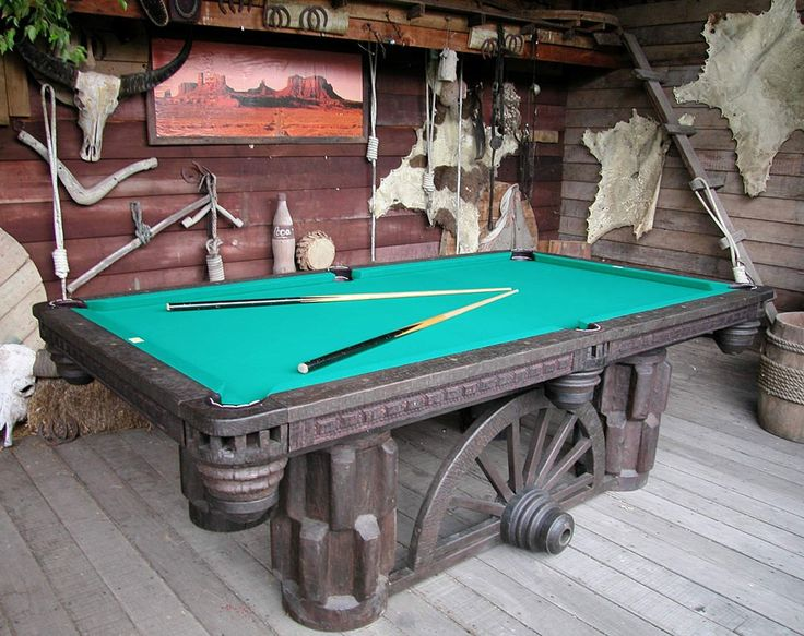 western style pool table: Games Rooms, Billiards Tables, Tables Unique,  Billiards Table, Rustic Decor,  Snooker Tables, Pools Tables, Cowboys Pools, Awesome Pools
