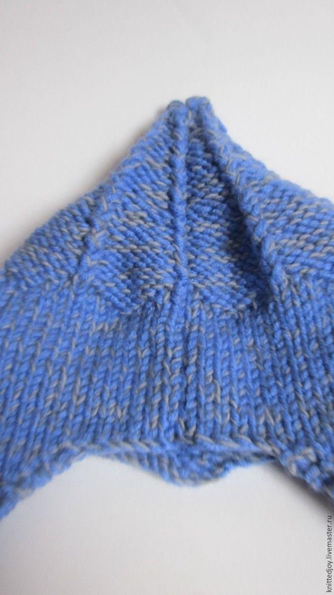 Хочу предложить вам связать шапочку в виде шлема витязя. Это будет очень теплая шапка на мальчика 4-5 лет или на ребенка с объемом головы 48-50 см. Начнем с выбора ниток, я соединила три нити: полушерсть синего цвета, шерсть серого цвета и тонкую ниточку темносерого кидмохера. Получился подходящий оттенок и достаточная толщина (100 м в 100 гр). Нитка получилась объемной, по инструкции надо было …