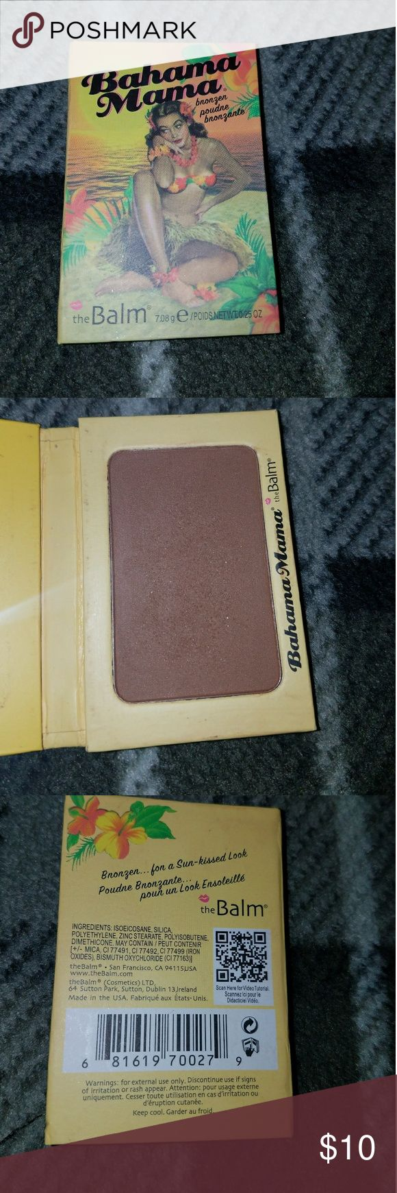 The Balm Bahama Mama Bronzer. The Balm Bahama Mama Bronzer. Used a couple of times. I just don't reach for it. I used it as an eyeshadow. It has been sanitized. the Balm Makeup Bronzer