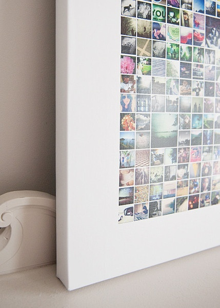 Project Collage I (365 Photo Openings) - $35 template for Project 365 photos wall art.  LOVE!