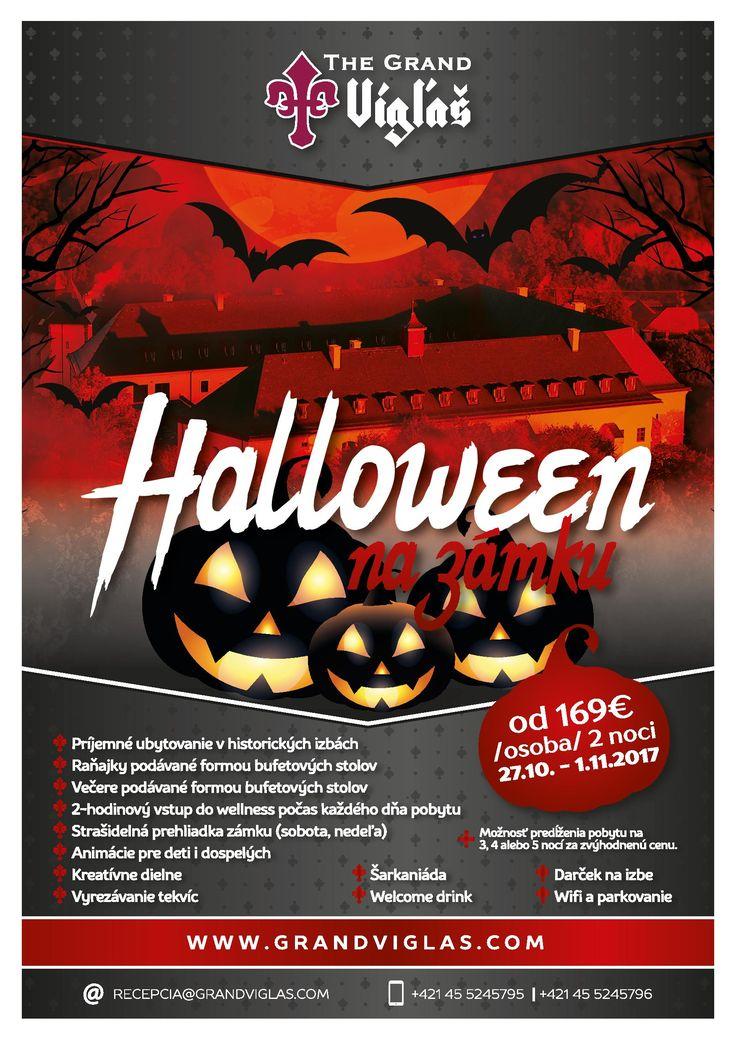 Zámok Vígľaš pripravil halloweenský program na počesť Drakulu Halloween na skutočnom zámku s celou rodinou  Počas obdobia dušičiek mnoho ľudí využíva voľný čas na jesenný relax. V ponuke je veľa možností ako a kam sa vybrať v rámci Slovenska. Zaujímavý program pre celú rodinu pripravil tento rok aj Zámok Vígľaš. Od 27. 10. do 1. 11. 2017 je pripravený Halloweenský pobyt so všetkým, čo k tomu patrí. Nebude chýbať strašidelná tematická večera, vyrezávanie tekvíc, strašidelné prehliadky a…