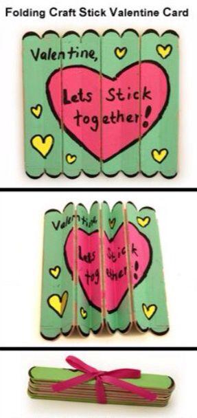 Valentine DIY Ice Cream  stick folding card