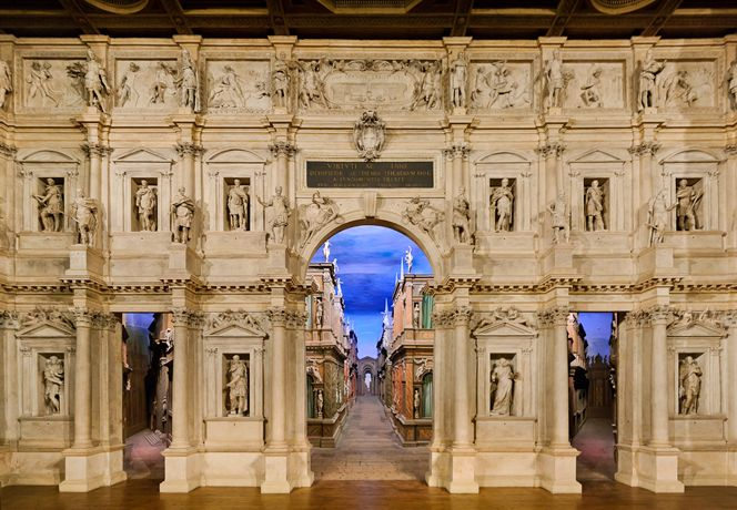 Teatro Olimpico in Vicenza by architect Andrea Palladio (Italy).
