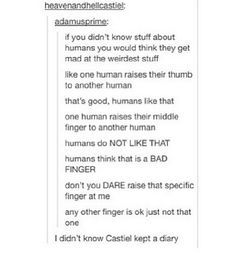 When they put themselves in someone else's shoes:   18 Times The Supernatural Fandom Hilariously Hijacked Tumblr Posts