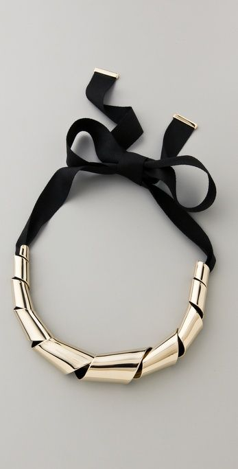 Marc by Marc Jacobs Metal Ribbons Big Twist Necklace
