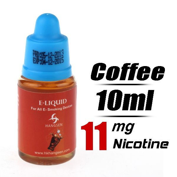 Quit Smoking HANGSEN 10ml Flavor strength Medium 11mg/g Electronic Cigarette Liquid (Coffee) - Harmless top quality nicotine free e-cigarett...