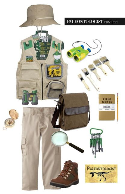 DIY kids paleontologist costume!