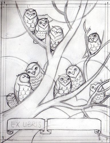 Ex Libris Sketch - Tree by kissabug, via Flickr