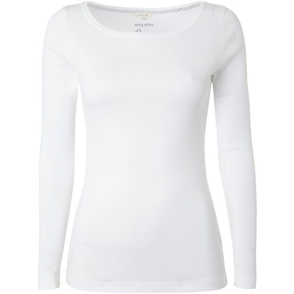 White Stuff Suzie Lou Slash Neck T-Shirt , White found on Polyvore