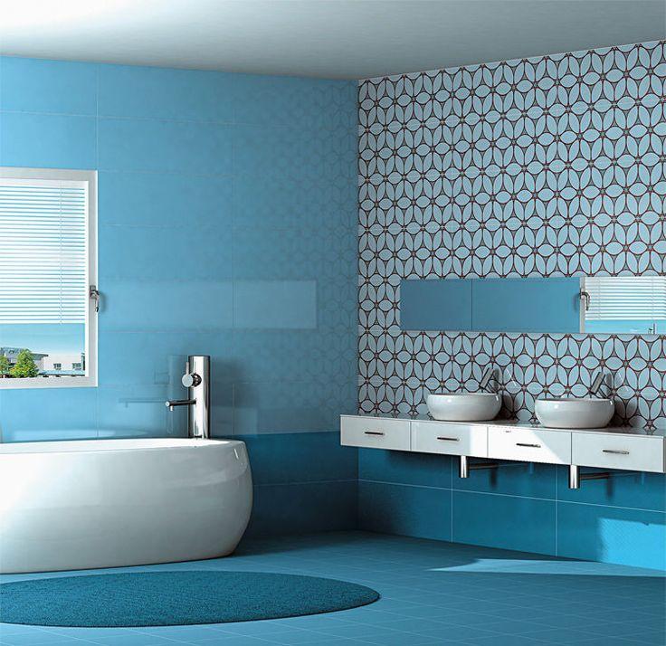 Oltre 25 fantastiche idee su piastrelle per bagno blu su - Piastrelle bagno blu ...