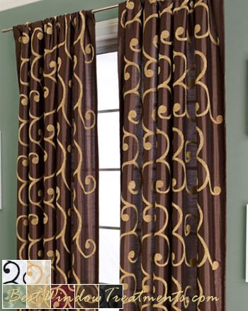 Kings Road Semi Custom Drapery Panel In Standard Size Drapes And Extra Long Length 108 Inch