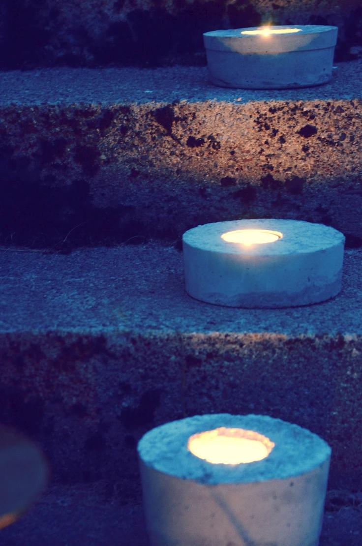 DIY lysholdere av sement  Gøy på Tangen