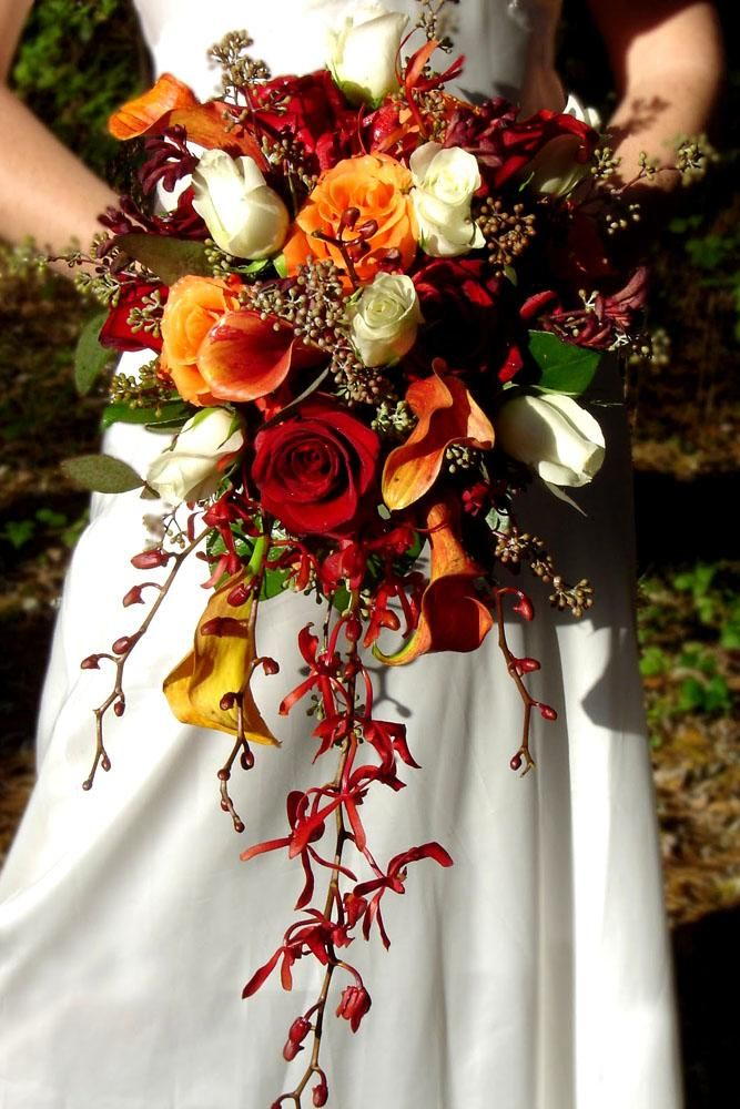 45 Gorgeous Cascading Wedding Bouquets Fall Wedding Bouquets