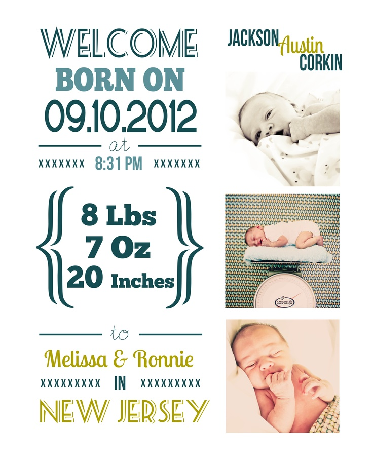 100 best Birth Announcement Ideas images – New Jersey Birth Announcements