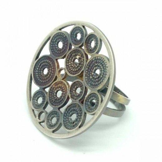 Anillo Plata de Ley con una Pátina Especial / Ring Sterling Silver