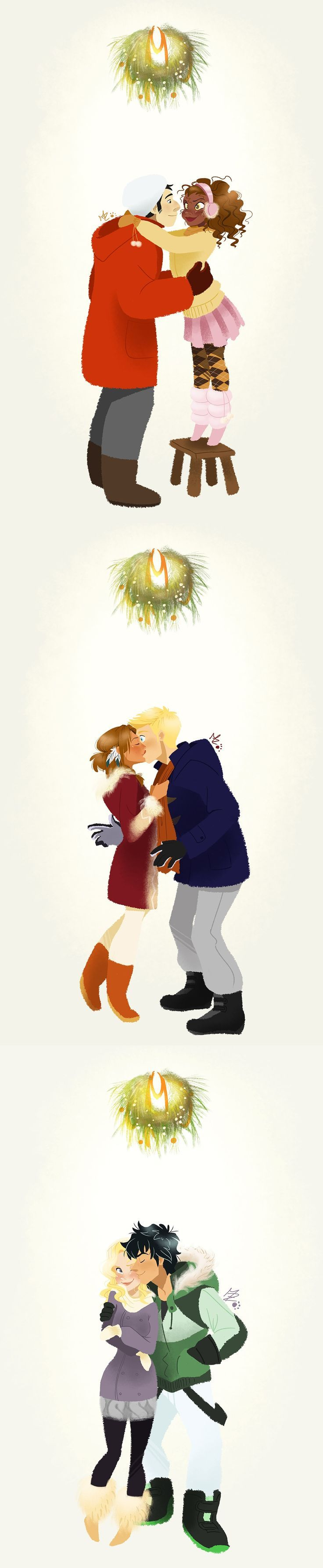 Awwwww... [PJO ships. (includes Jiper, Frazel, and the one and only Percabeth) Cute for le Holidays!]