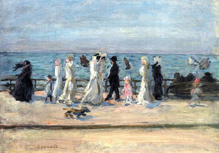 At the Seaside (also known as Strollers on the Promenade) / Pierre Bonnard - 1906