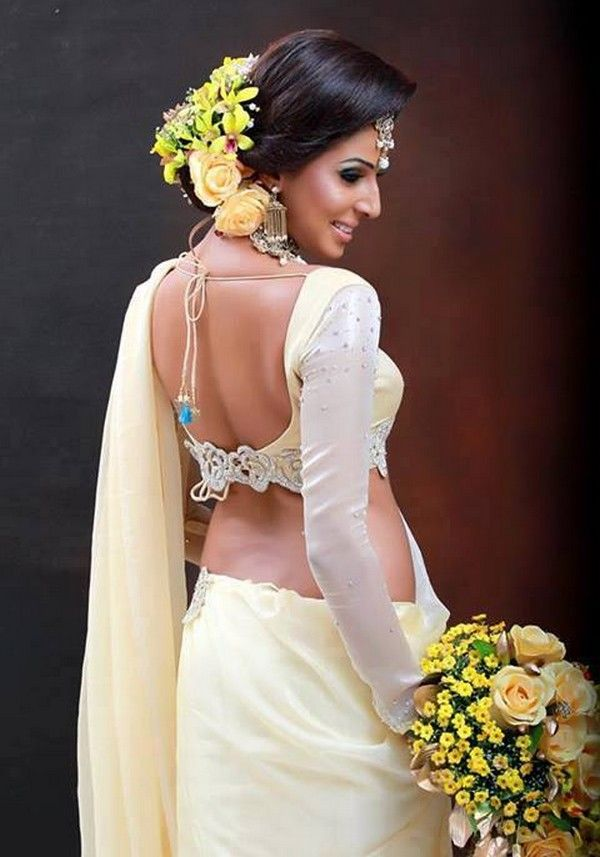Blouse Neck Designs For Bridal Sarees