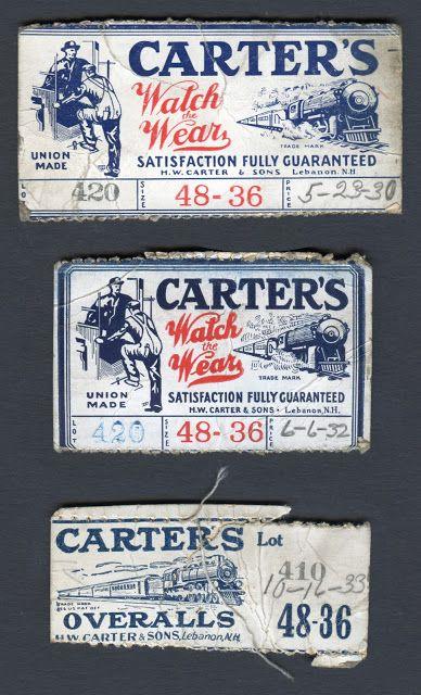 Carters Work Wear label