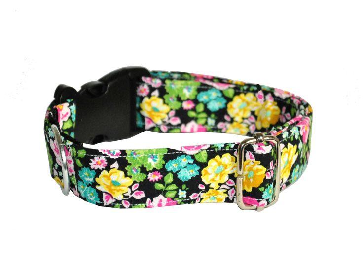 Obroża handmade dla psa www.petside.pl #pies #piesek #pieseł #obroża #rękodzieło #handmade #ręcznierobione #dog #dogcollar #collar #dlapsa #kwiaty