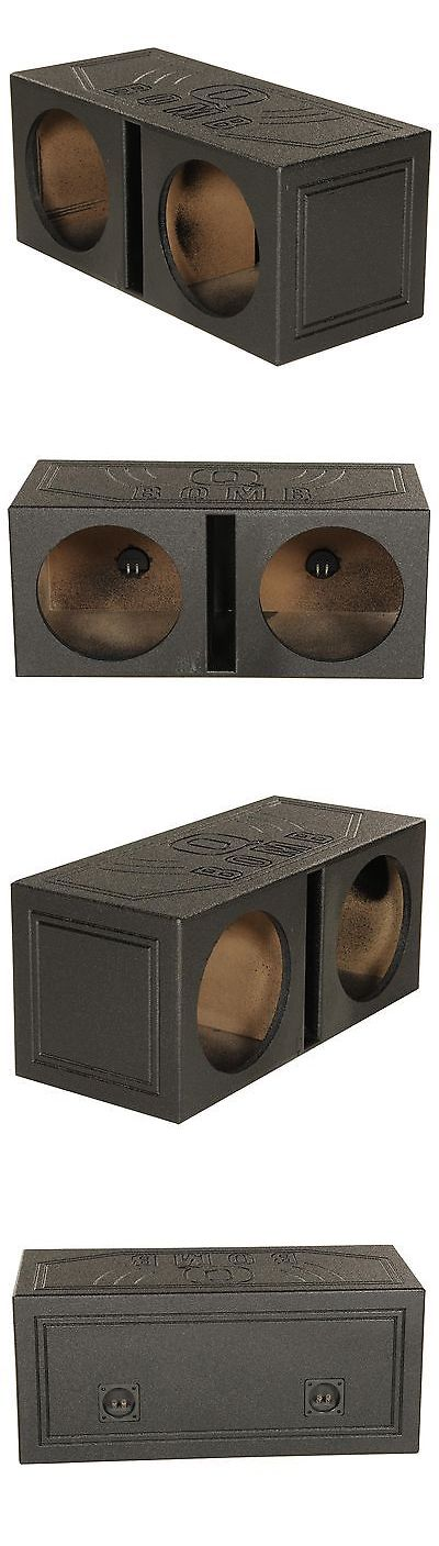 Speaker Sub Enclosures: New! Q-Power Qbomb12v Dual 12 Vented Port Subwoofer Sub Box W/ Bedliner Spray BUY IT NOW ONLY: $82.99