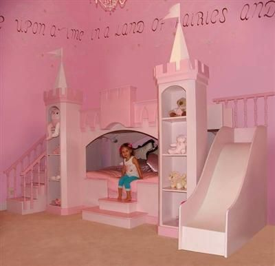 Princess dream room! Would stay in bed and skip school if I had a bed like that when I was 5 haha