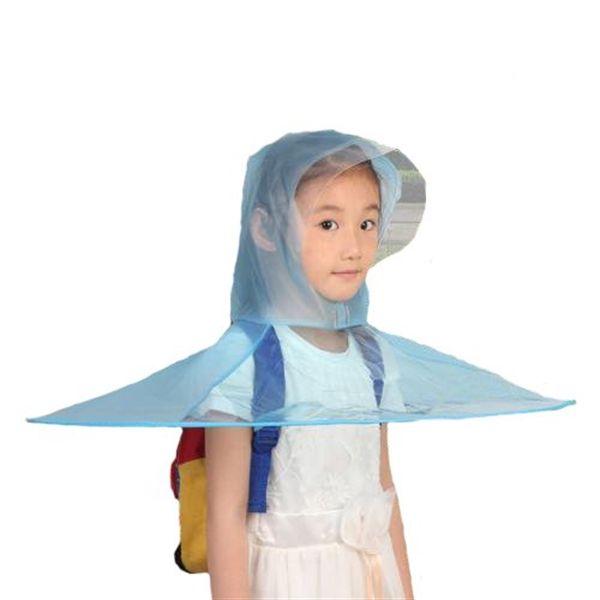 Adorable Foldable Cute Panda Cartoon UFO Shape Rain Coat Children Umbrella Hat Magical Hands Raincoat For Kids