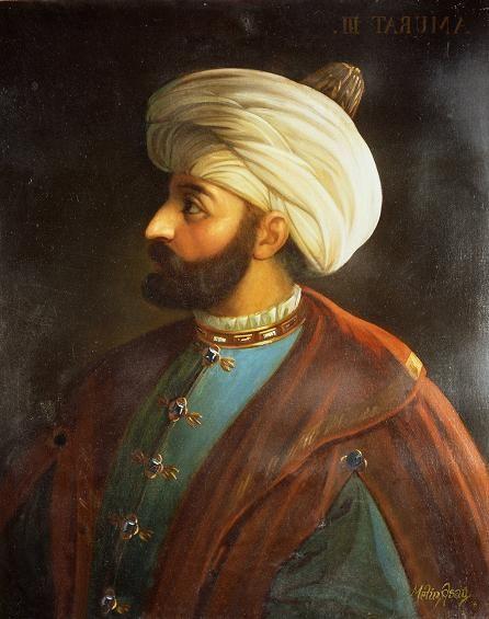 Sultan III.Murat 110x170 cm yağlıboya