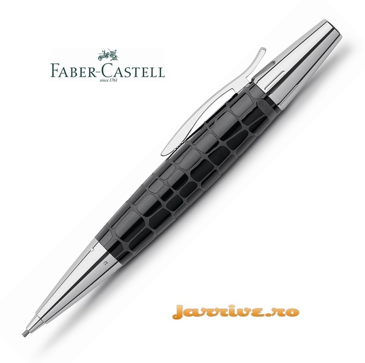 Faber-Castell e-motion Pencil 1.4 mm Croco Black 138350