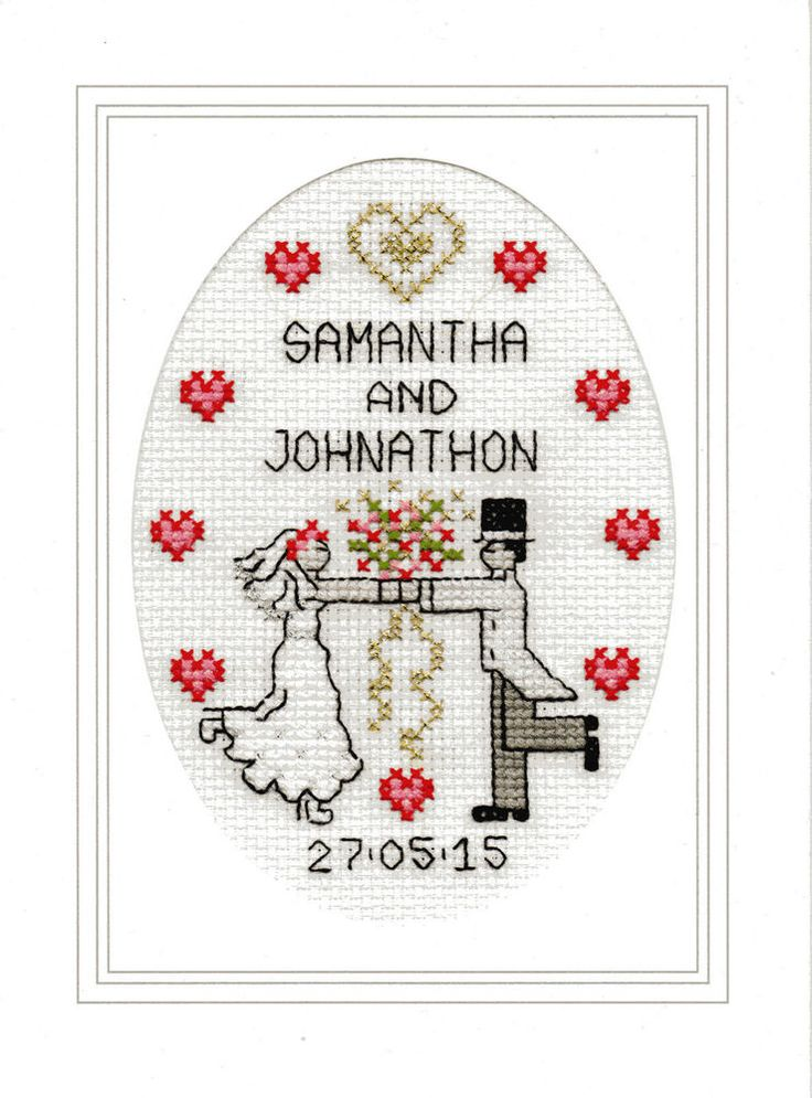 Wedding cross stitch card kit - First Dance                                                                                                                                                      More
