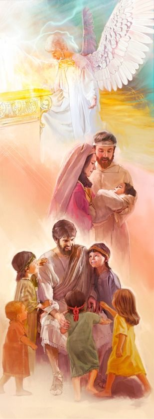 1. Jesus in heaven; 2. Baby Jesus with Mary and Joseph; 3. Jesus teaching children -ARTICLE-Who is Jesus And What ie He Doing Now?