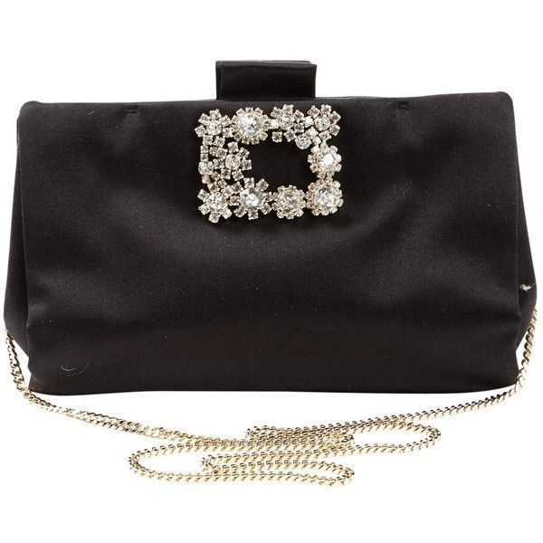28fa48352399 Pre-owned Roger Vivier Cloth Clutch Bag ( 533) ❤ liked on Polyvore  featuring bags