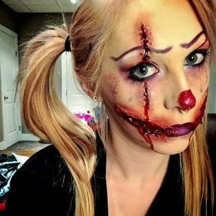 A look I did back when Clowns were terrorizing the country #makeup #beauty
