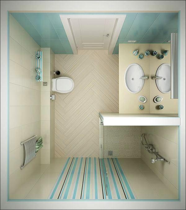 Туалет в цветах: голубой, серый, светло-серый, белый, темно-зеленый. Туалет в .
