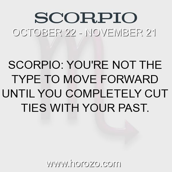 Fact about Scorpio: Scorpio: You're not the type to move forward until you... #scorpio, #scorpiofact, #zodiac. Scorpio, Join To Our Site https://www.horozo.com You will find there Tarot Reading, Personality Test, Horoscope, Zodiac Facts And More. You can also chat with other members and play questions game. Try Now! #horoscopesigns