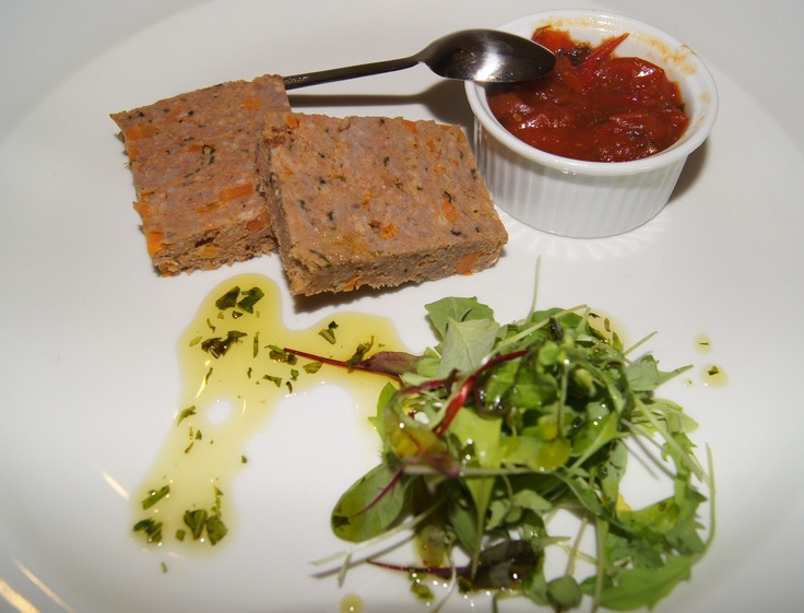 American Style Meatloaf with Chilli Tomato Chutney - Franklin's Restaurant at Cluny Bank Hotel
