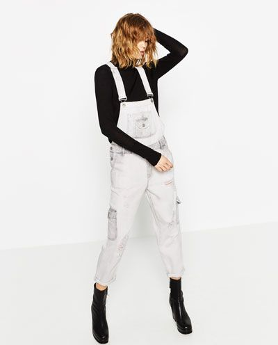 SUPER BLEACH CARGO STYLE DUNGAREES