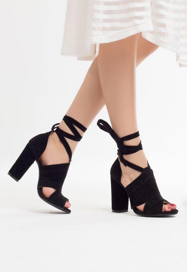 Siyah Süet Bilekten Bağlamalı Bayan Topuklu Ayakkabı Ürün ÖzellikleriRenk/Detay: Siyah Süet Bilekten Bağlamalı BayanTopuklu.... 398446