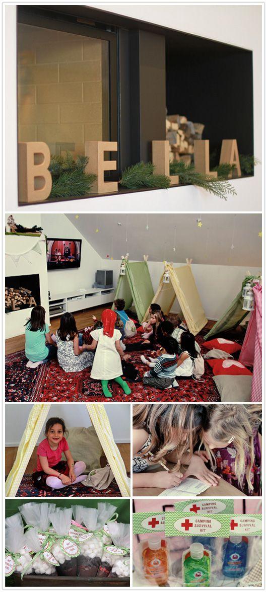 die besten 25 indoor camping partys ideen auf pinterest. Black Bedroom Furniture Sets. Home Design Ideas