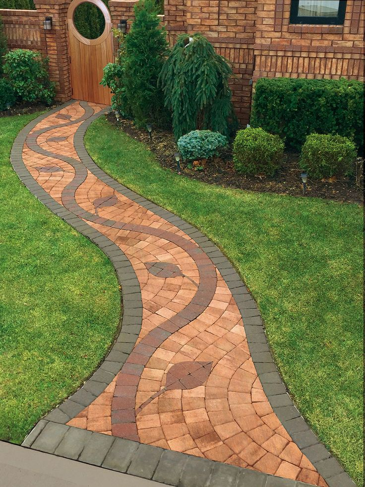 46 best design ideas for paving stone walkways edging and for Bricks stone design
