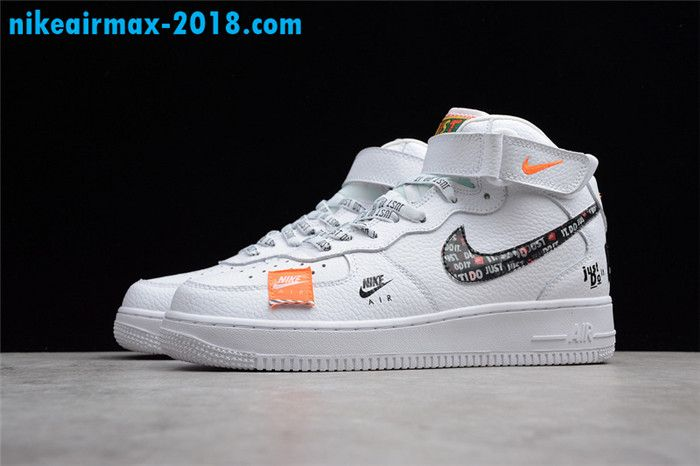 789af0af2a8537 Nike Air Force 1 Mid Just Do It BQ6474-100 Men And Women Sneaker White
