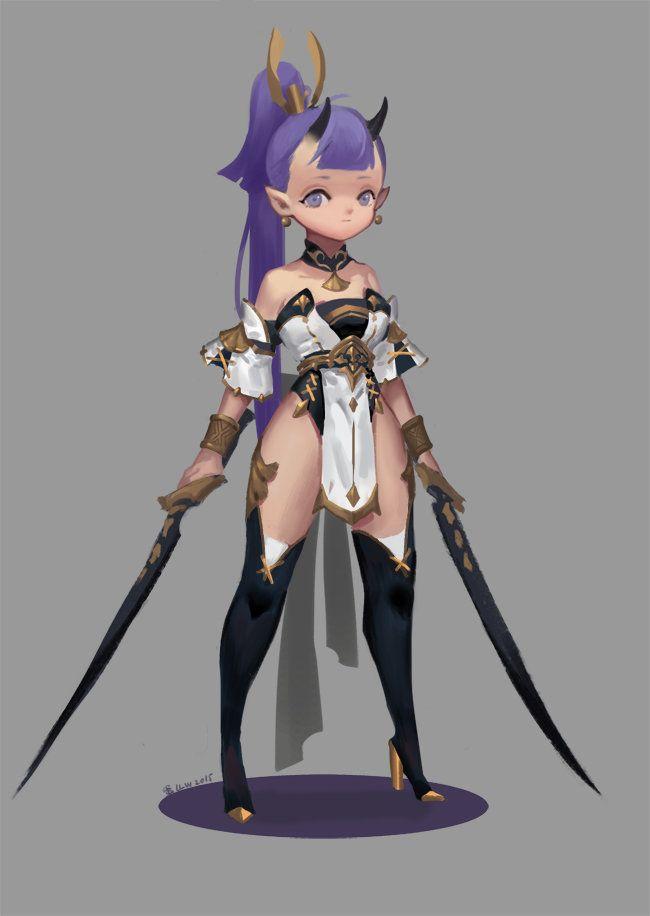 ArtStation - assassin girl?, DanDan Liu