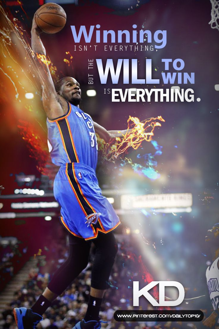 basketball quote | Inspiring words from Kevin Durant.  #KD #KevinDurant #NBA