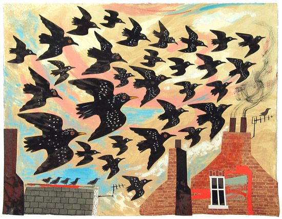 Starlings, Mark Hearld.                                  Mouse