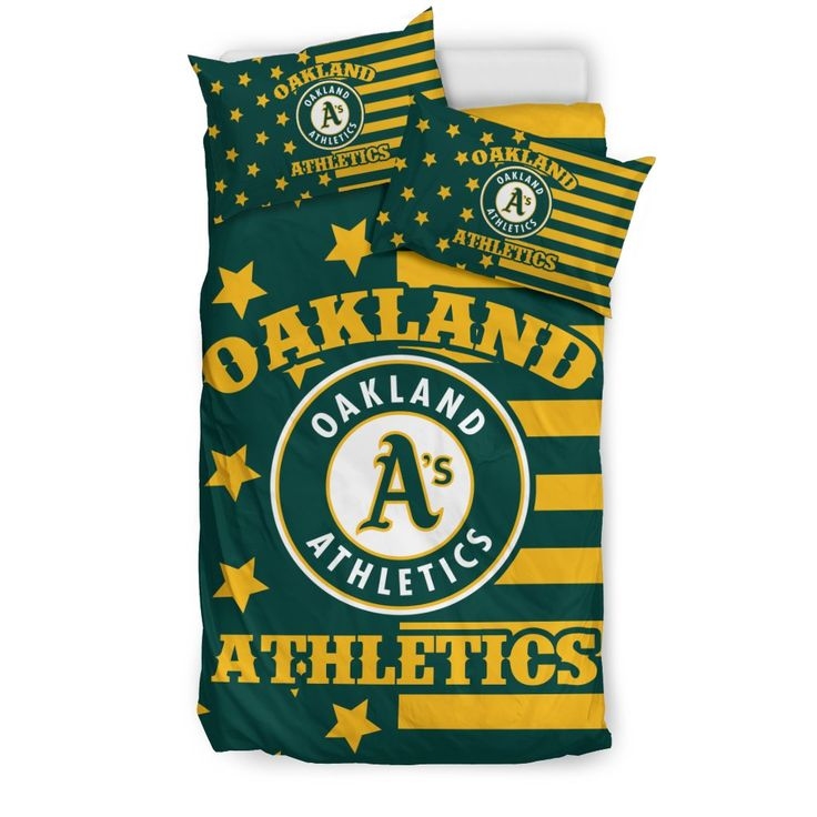 Star Mashup Column Oakland Athletics Bedding Sets – Best Funny Store